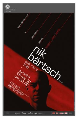 art 84061 afis bartsch NIK BÄRTSCH @ Teatrul Naţional