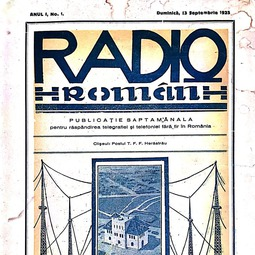 """Radio Român"", 13 septembrie 1925, anul I, nr. 1"