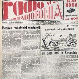 """Dimitrie Gusti - Menirea radiofoniei românești, """"Radio și Radiofonia"""", 9 martie 1930"""