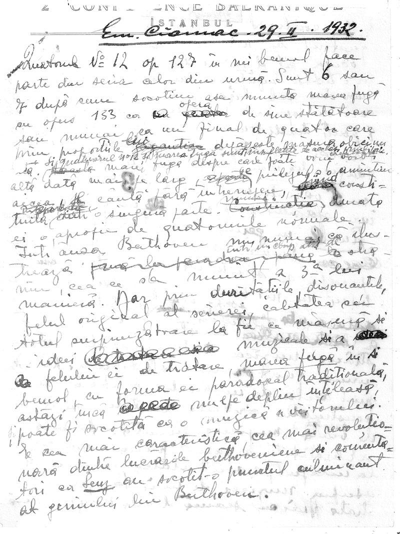 """""""Program de seară"""". Emil Ciomac - Câteva cuvinte despre """"Simfonia a IX-a"""" de Beethoven (1932)"""