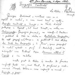 """Universitatea Radio"". Ion Conea - Geografia cordială (1932)"