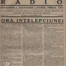 """Pagină dedicată emisiunii """"Ora Străjerilor"""" (1935)"""