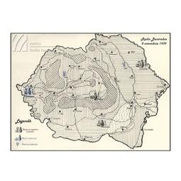 Harta emițătoarelor radio din Romania la 8 octombrie 1939