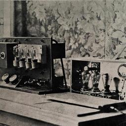 Amplificatorii microfonici ai postului provizoriu de emisie (1928)