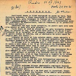 """Universitatea Radio"". Apostol D. Culea - ""Andersen"" (1943)"