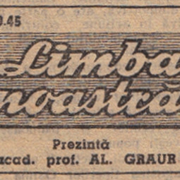 """""""Limba noastră"""". Unde se vorbeşte corect româneşte. Prima înregistrare pe bandă magnetică a emisiunii (1960)"""