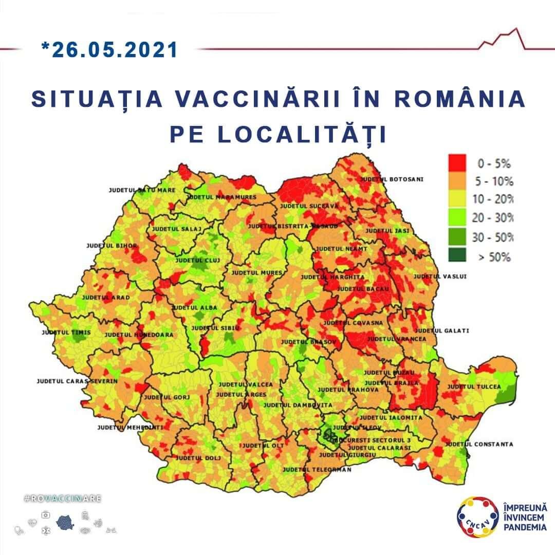 harta vaccinare