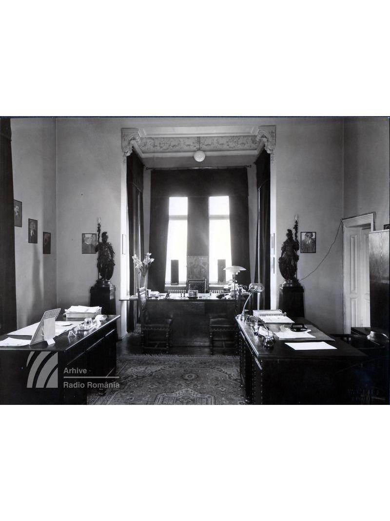 Birourile Direcției programelor, din vechea clădire a Radioului (1928-1944)