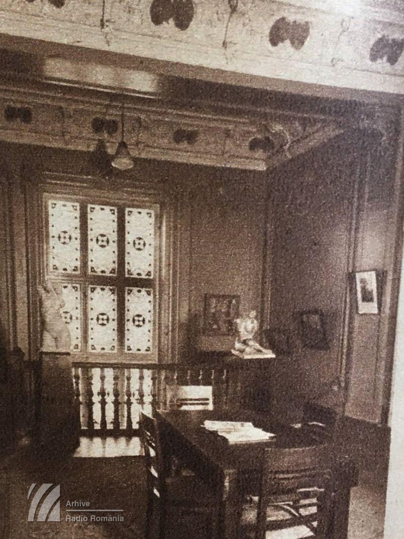 Holul de la primul etaj, din primul sediu al Radiodifuziunii