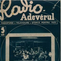 Radio Adevărul. Radiofonie. Televiziune. Știință pentru toți, 3 aprilie 1938, anul XI, nr. 498