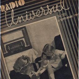 Radio Universul, 21 septembrie 1940, anul VII, nr. 310