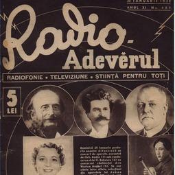 Radio Adevărul. Radiofonie. Televiziune. Știință pentru toți, 30 ian. 1938, anul XI, nr. 489