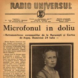 ***, Microfonul în doliu, Radio Universul, 23 iulie 1938, anul V, nr. 197