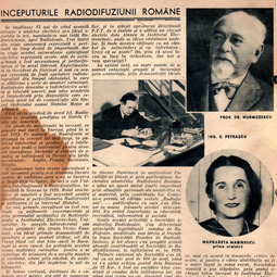"Dragomir Hurmuzescu - Începuturile Radiodifuziunii Române, ""Radio Adevărul"", 19 nov. 1939"