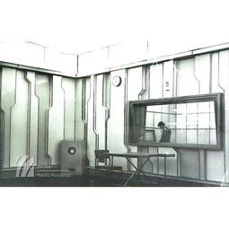 Studio din interiorul sediului Radio Cluj (1967)