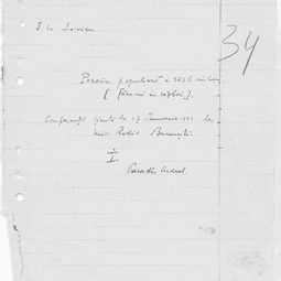 """""""Universitatea Radio"""". I.U. Soricu - Poezia populară a războiului. I. În Ardeal (17 ian. 1932)"""