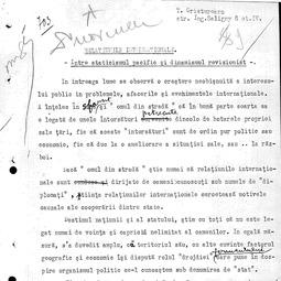 """""""Universitatea Radio"""". T. Cristureanu - Relaţiunile internaţionale: între staticismul pacific şi dinamismul revizionist (27 iul. 1934)"""