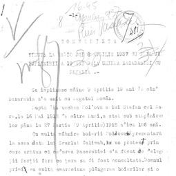 Mihail G. Stoicescu - Conferință ținută cu prilejul împlinirii a 19 ani de la Unirea Basarabiei cu România (8 apr. 1937)