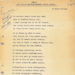 Horia Furtună - Odă eroilor căzuți pentru Ardeal: versuri (1 dec. 1944)