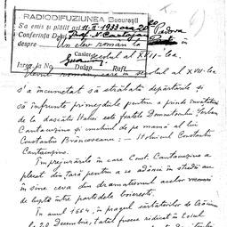 """""""Universitatea Radio"""". Nicolae Cartojan - Un elev român la Padova în sec. al XVII-lea (1933)"""