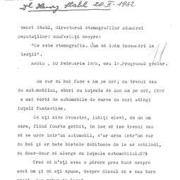 """""""Program pentru școlari"""". Henri Stahl - Ce este stenografia, cum să luăm însemnări la lecții (1932)"""