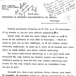 Hermann Oberth - Principiul zborului rachetelor și zborului în vid (1933)