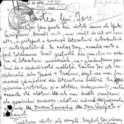 """Universitatea Radio"". Gala Galaction - Cartea lui Iov (1935)"