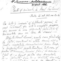 """Universitatea Radio"". Alexandru Lascarov-Moldovanu - Plante și animale în Noul Testament (1932)"