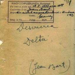 Jean Bart - Descrierea Deltei (1933)