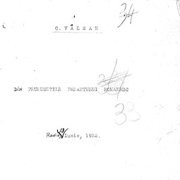 """""""Universitatea Radio"""". George Vâlsan - Din frumusețile pământului românesc (1932)"""