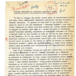 """""""Universitatea Radio"""". Emil Condurachi - Teohari Antonescu și originile poporului român (1943)"""