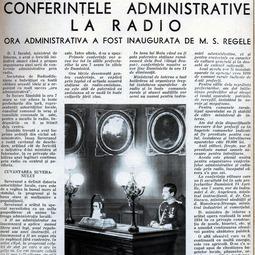 """Pagină dedicată emisiunii """"Ora Națiunii"""" (1933)"""