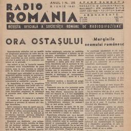 """Pagina dedicată emisiunii """"Ora Ostașului"""" (1941)"""