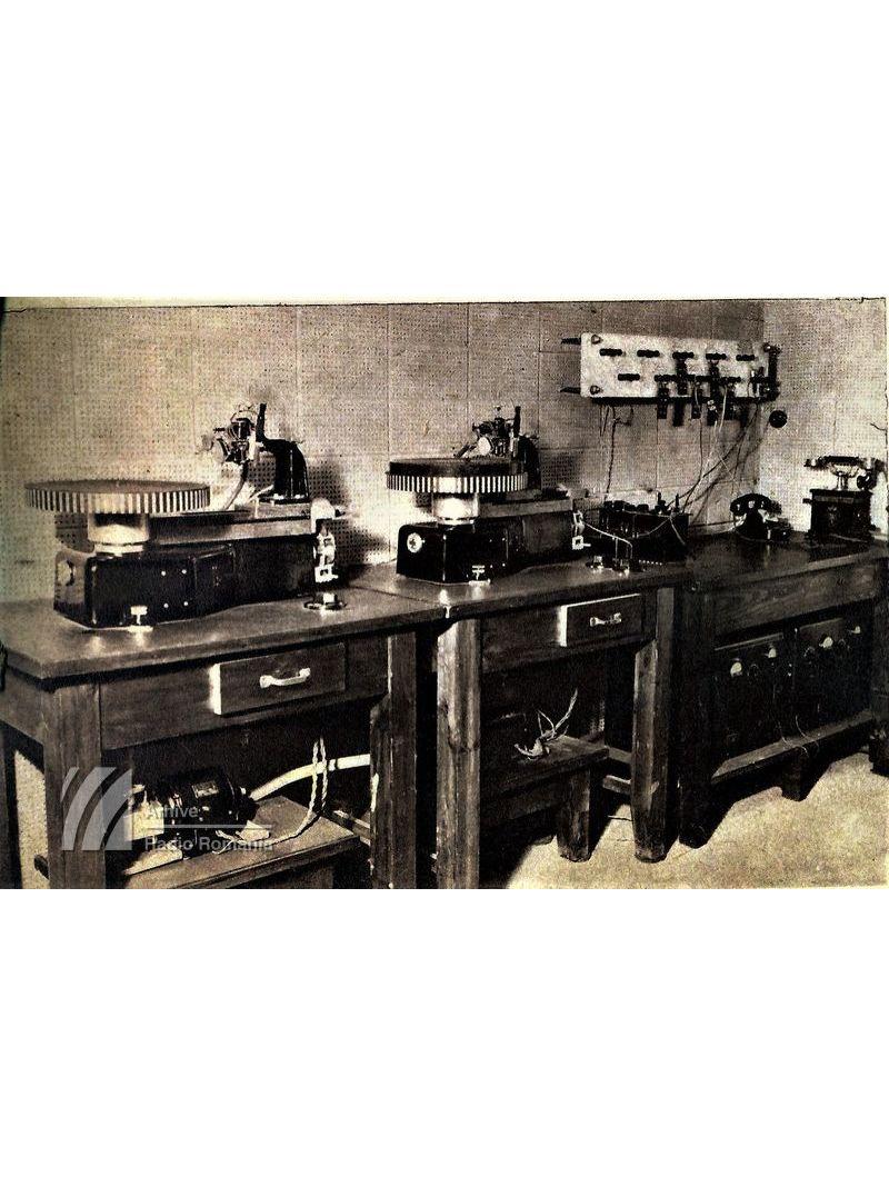 Instalație pentru gravat discurile (1938)
