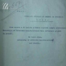 Raportul de funcționare a Societății de Difuziune Radio-Telefonică (1928)