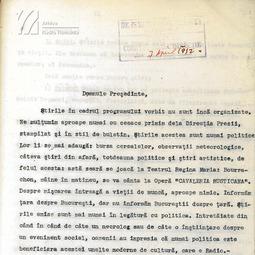 Regulamentul Serviciului Redacțional și Biblioteca Oficiului de Radiodifuziune (1932)