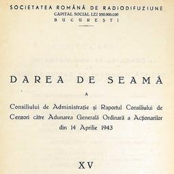 Darea de seamă a Consiliului de Administrație (1942)