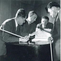 """Festivalul Internațional """"George Enescu"""", ediția I, 1958. Recital Cvartetul Radio. George Enescu - Cvartetul de coarde op. 22, nr. 2 în Sol major"""