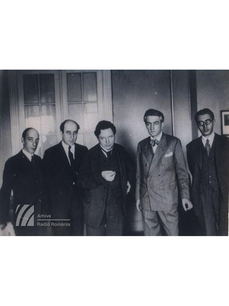 Constantin Brăiloiu, Alfred Alessandrescu, George Enescu, Ion Nonna Otescu, Mihail Jora