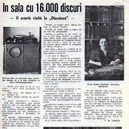 Articol despre Discoteca Radioului (1943)