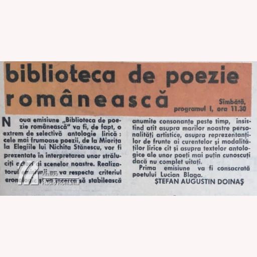 Biblioteca de poezie românească